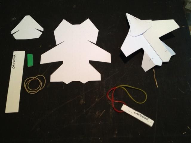 Avion en papier japonais à décorer